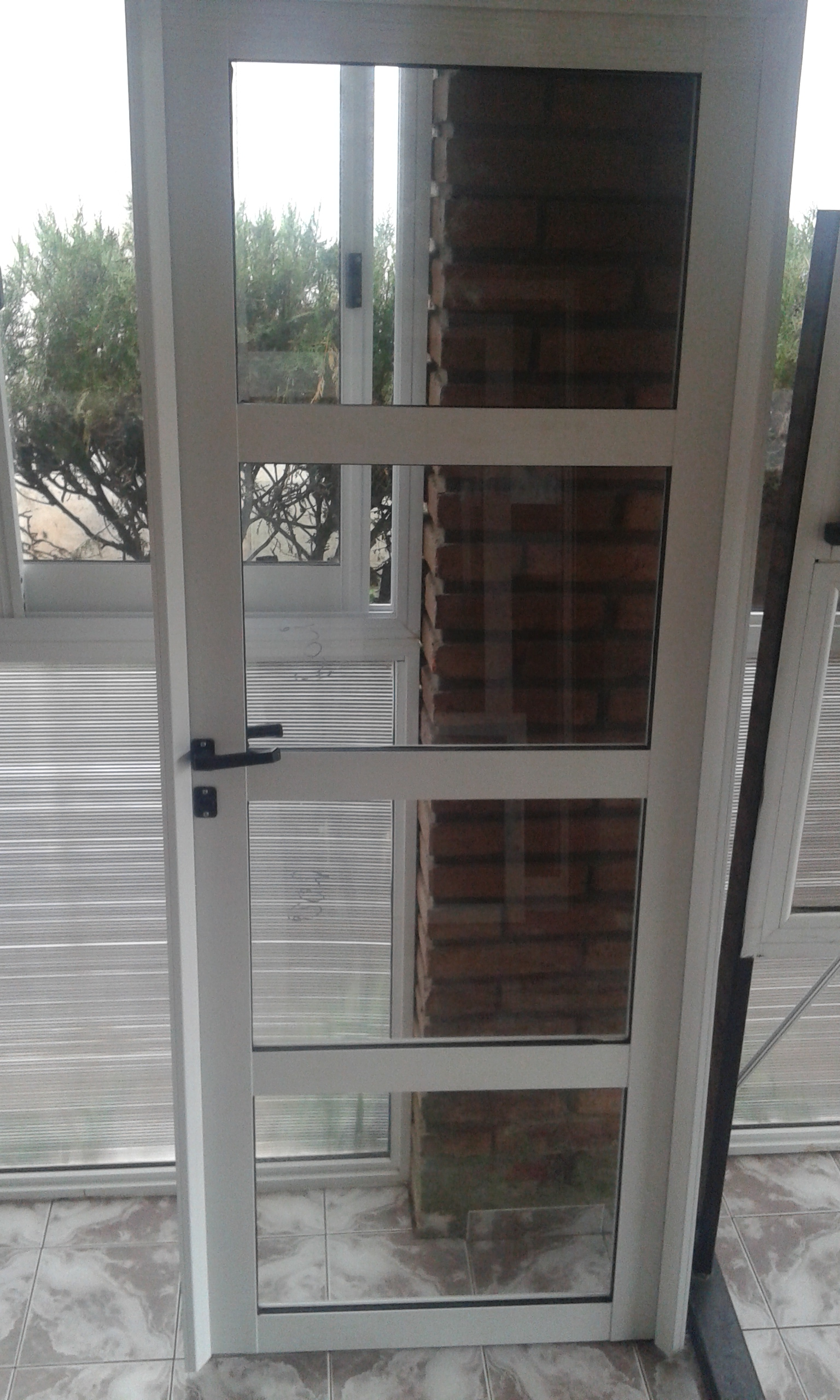 Puerta de Aluminio Vidrio Repartido